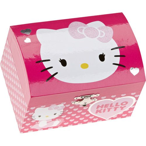 Jewelry Gift Boxes Walmart Magnificent Hello Kitty Jewelry Box  Hello Kitty Musical Jewelry Box  Walmart 2018