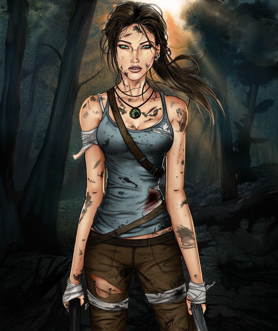 Wallpaper Lara Croft Shadow Of The Tomb Raider Concept: Tomb Raider- A Survivor Is Born By Sanctif1ed.deviantart