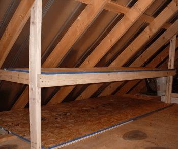 Attic Organization Ideas Angled Ceilings