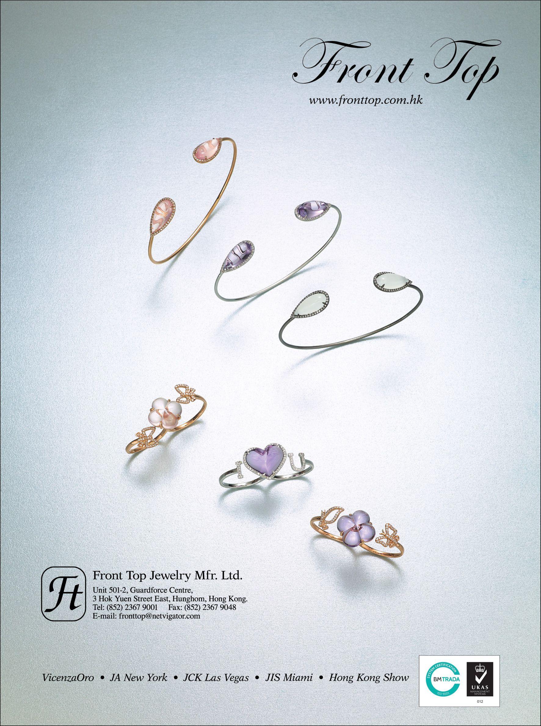 Front Top Jewelry Mfr. Ltd. Booth: 1CE7 Country: HK #jewelry #jewellery #finejewelry #jewelryart #jewelryshow #diamond #gemstones #hkjewelry #jewelryhk #jewelryoftheday #fashion #trend #vibes #goodvibes #wearable #stylish #inspiration #art #artistic #crafts #craftsmanship #design #jewelrydesign