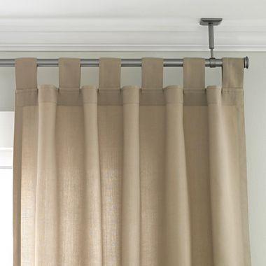 Hang Curtains Around Joshs Studio Ceiling Mount Curtain Rod Set