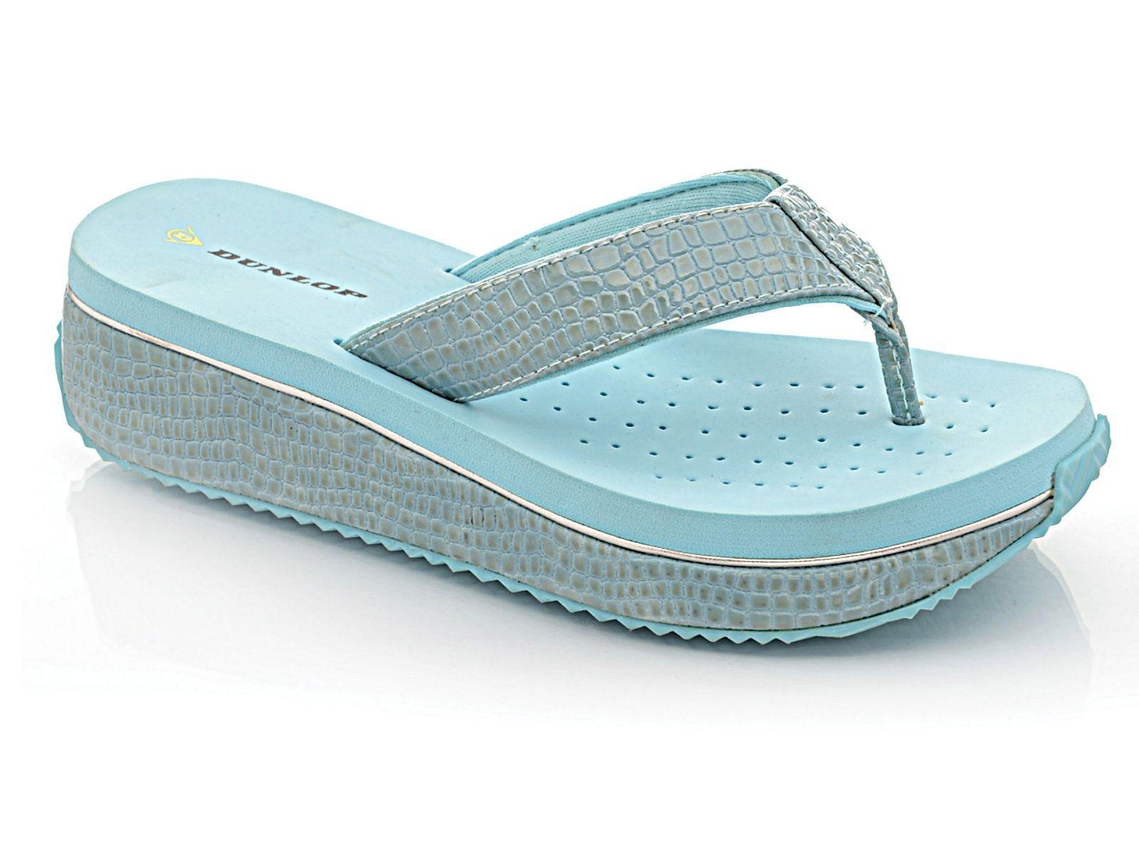 fc0fe21ffa Ladies Dunlop Toe Post Flip Flop Wedge Summer Beach Sandals Shoe | eBay