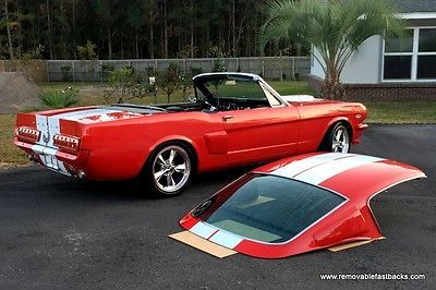 Ebay 1966 Ford Mustang Custom No Reserve Restomod Roadster Convertible Removable Fastback Roof 1968 Ford Must 1966 Ford Mustang Ford Mustang Classic Cars