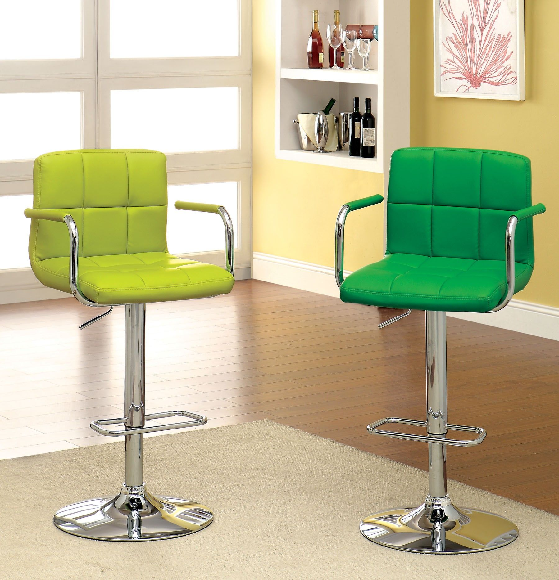 Picture Of Lime And Green Swivel Bar Stools Idea Furniture