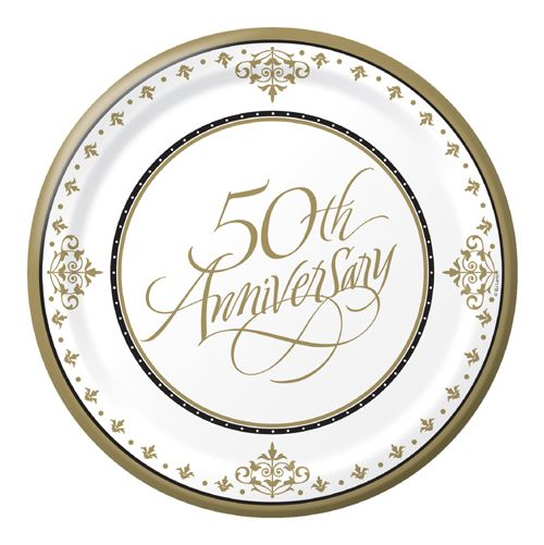 Gold 50th Anniversary Party Supplies – Bulk