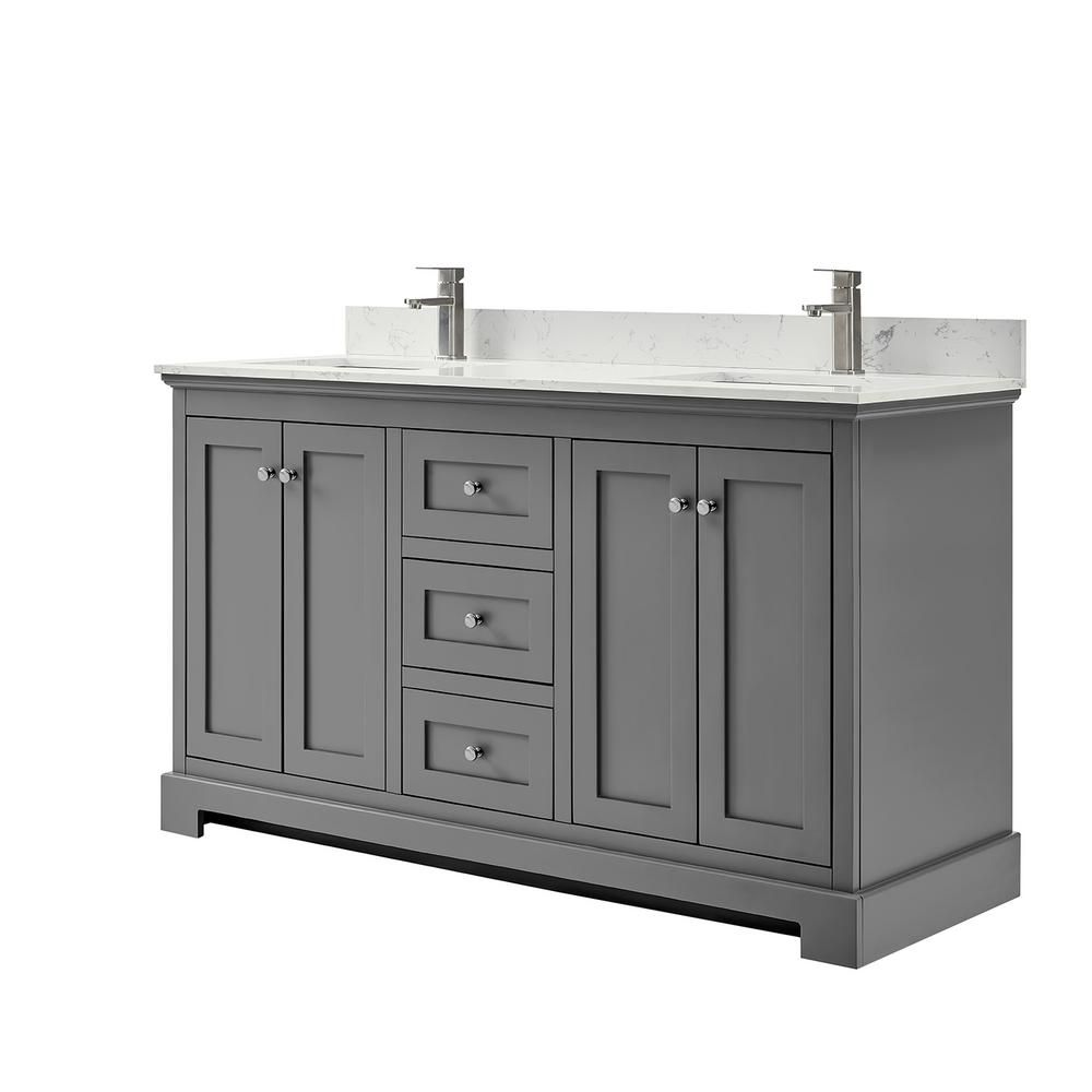 Wyndham Collection Ryla 60 In W X 22 In D Double Bath Vanity In