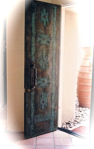 Door carve Southwestern pattern in doors no colors use different shades.  sc 1 st  Pinterest & Door carve Southwestern pattern in doors no colors use different ...