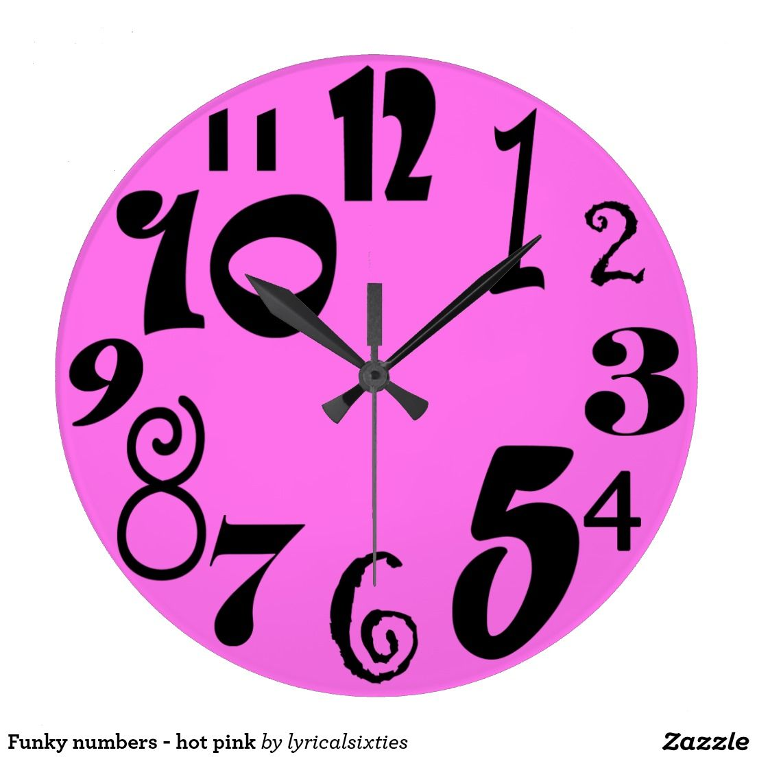 Cool Clock Hands Funky Numbers Hot Pink Clock A Cool Clock With A Hot