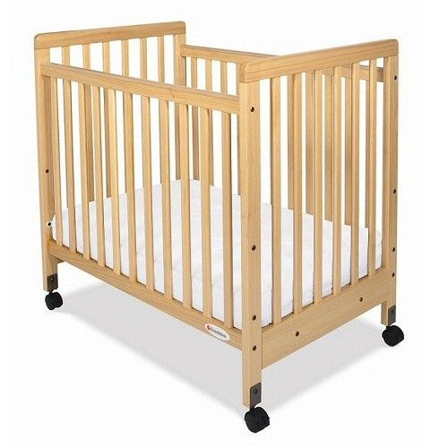 Safety Craft Fixed Side Compact Baby Crib Adjustable Bed