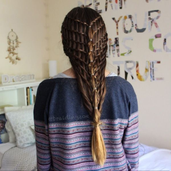 Do as much waterfall twists as you can and then combine them in the middle into a bubble braid. The layers of waterfall twists would look like woven baskets and it's very unique to look at.