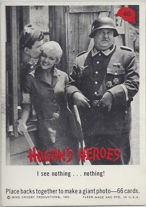 i see nothing    nothing hogan's heroes trading card