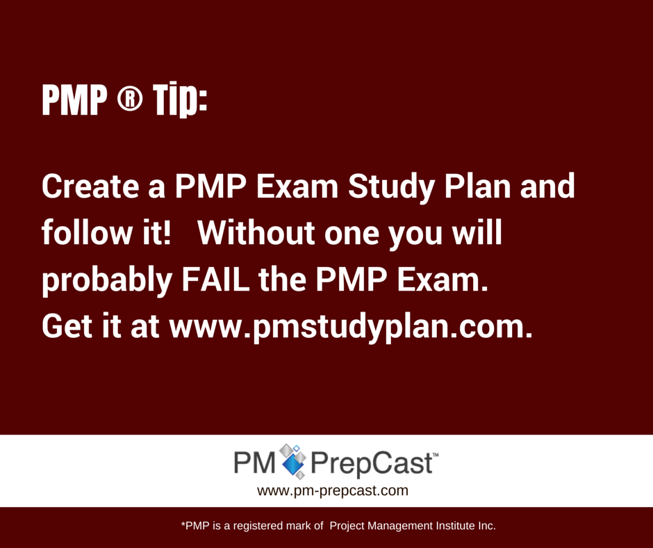 PMP Tip: Create A PMP Exam Study Plan And Follow It
