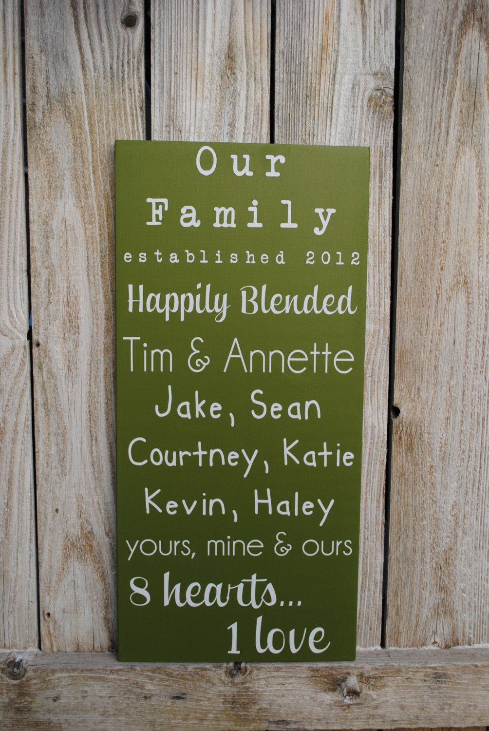 Blended Family Sign Established date sign with by