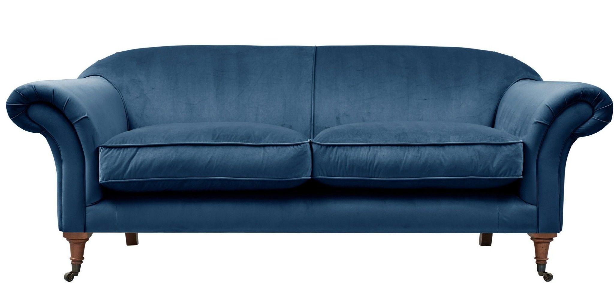Pin By Sasha Roy On Living Room Cushions On Sofa Blue Sofa 3 Seater Sofa