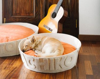 db948b9d5896 Minimalist Round Custom Dog Beds ~ Modern, luxury wool dog beds ~ Handmade  in Italy ~ Love these charming personalized dog beds | Naps Design