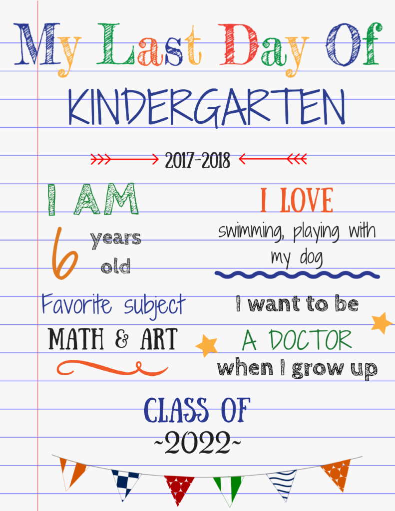 Editable last day of school sign for great photos to ...