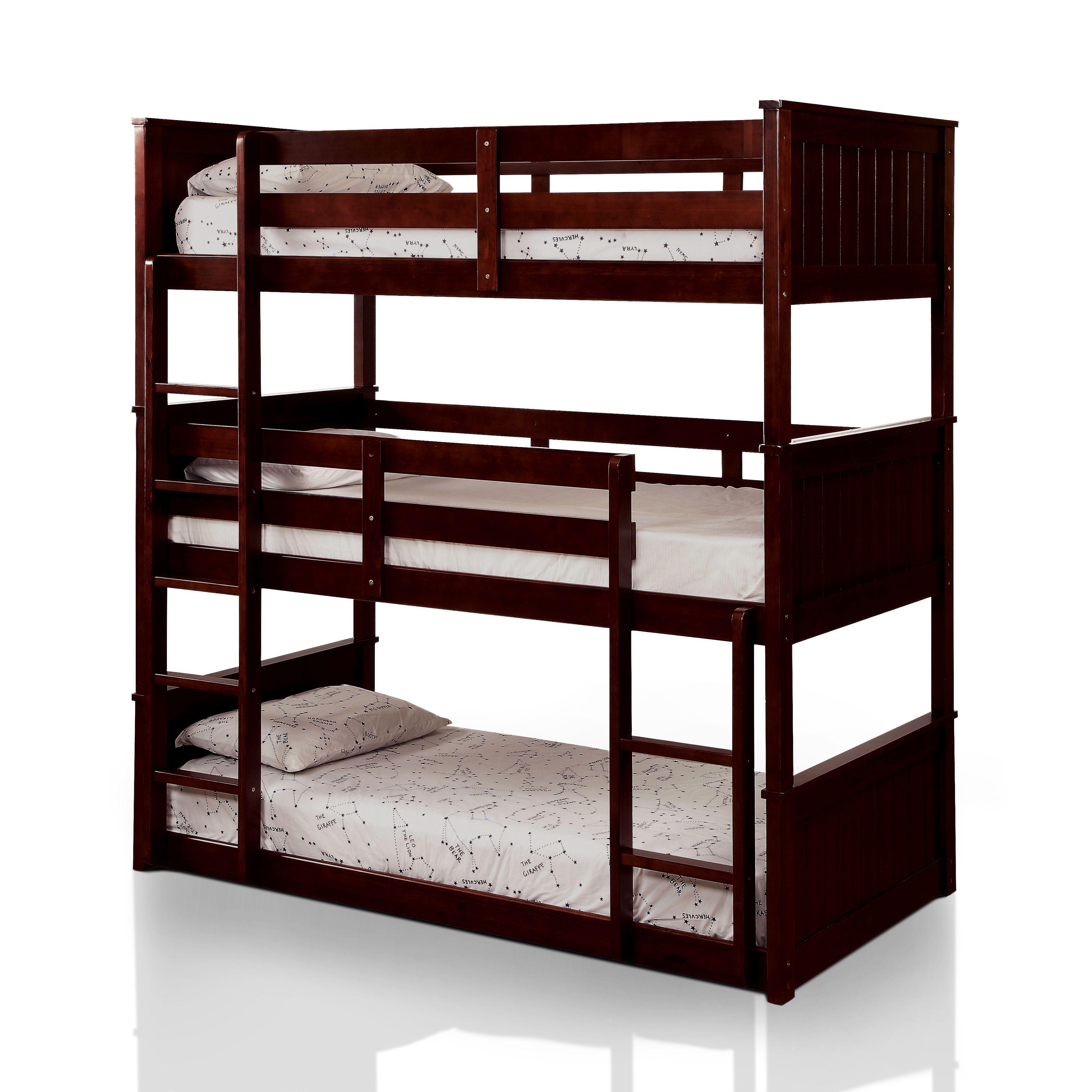 furniture of america rigson plank style space saving 3 tier twin rh pinterest com