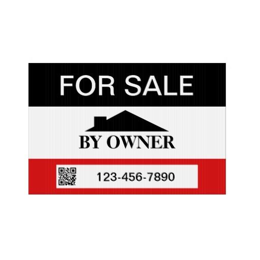 By Owner House Sale With QR Template Yard Sign House Sales   House For Sale  Sign  House For Sale Sign Template
