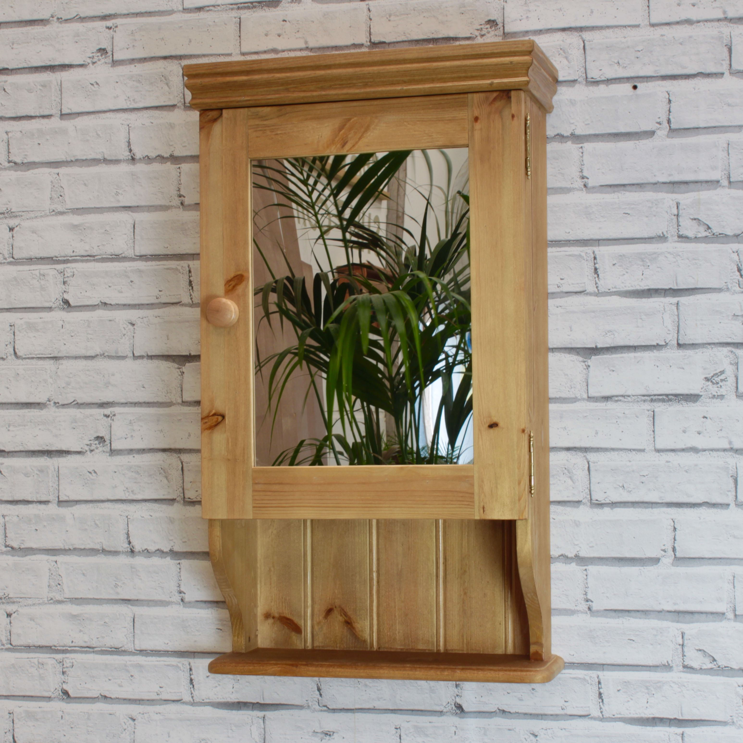 Bathroom Cabinet With A Shelf Antique Pine