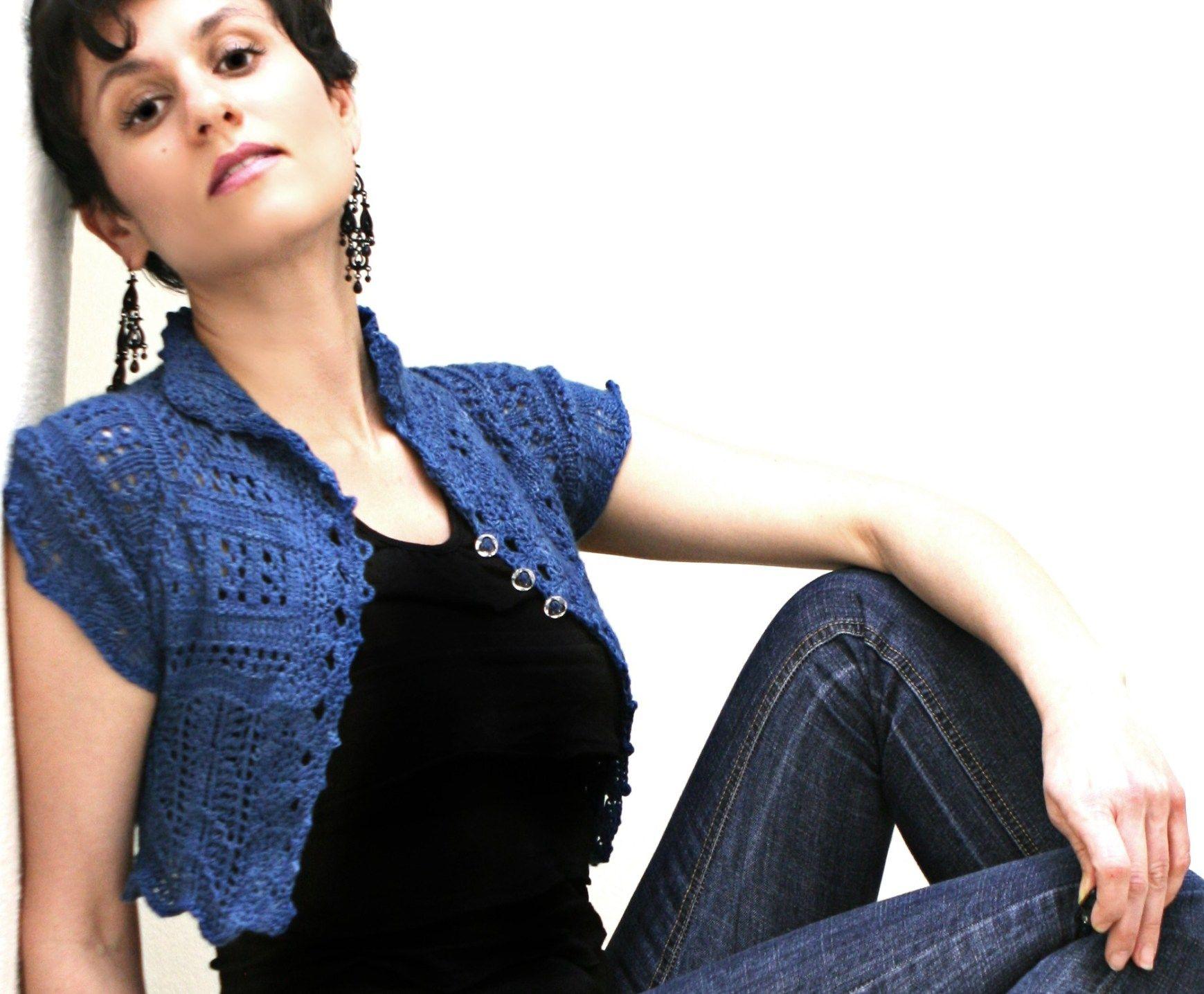 Lace Bolero Crochet Pattern Crazy Lace Cropped Cardi Pattern - vanessaharding.com #irishlacecrochetpattern