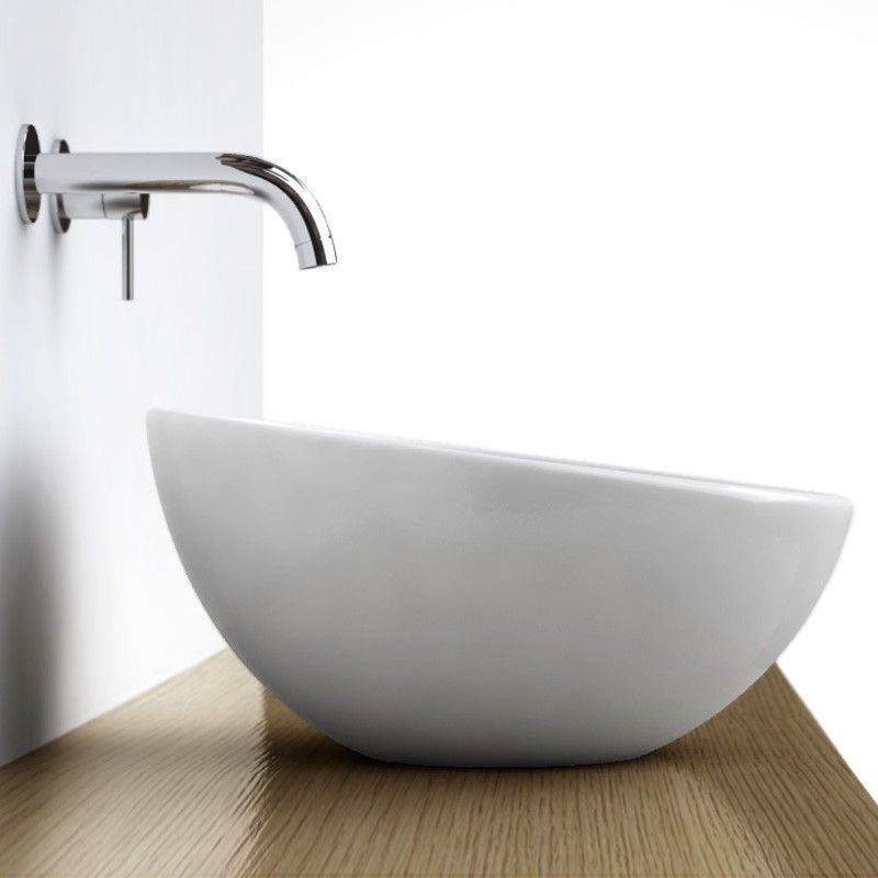 Vasque à poser ronde bol 42 cm céramique, Pure | Vasque à ...