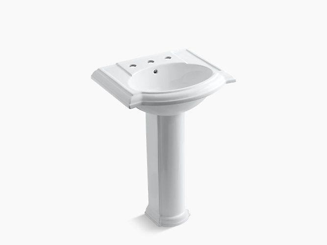 Devonshire Pedestal Sink With 8 Inch Centers K 2286 8 Kohler