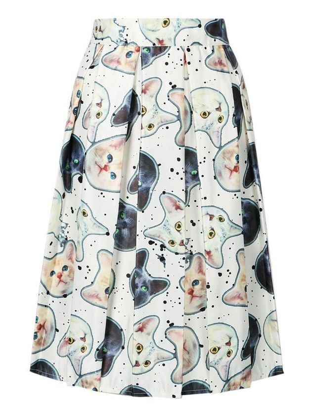 This midi skirt that you could pair with a white blouse for a non-traditional dress.