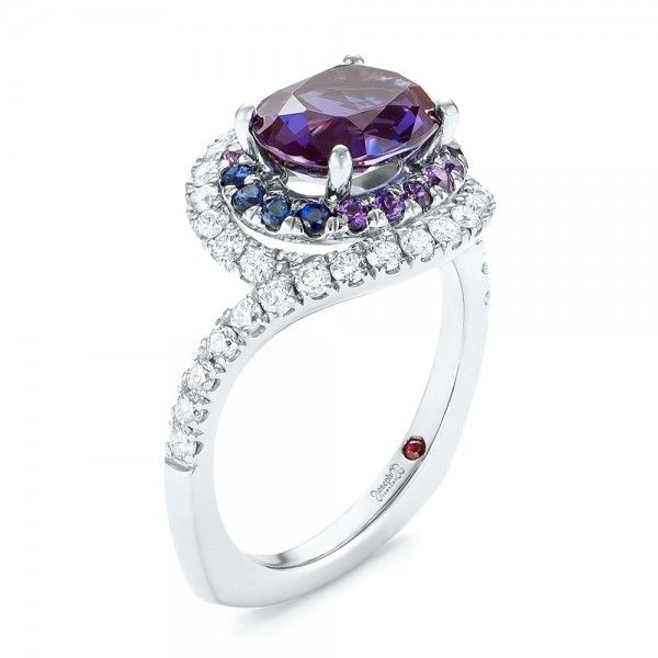 rings gold top view with bowtie alexandrite white sapphire lab jewelry wcasp and front ring couture