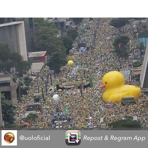 Repost @uoloficial Multidão toma a Avenida Paulista em protesto contra o governo de Dilma Rousseff em São Paulo. Manifestantes pedem o impeachment da presidente e a prisão do ex-presidente Lula investigado pela Operação Lava Jato. Foto: Danilo Verpa/Folhapress #uol #protestos13demarço #manifestação #protesto #sp #paulista #dilma #lula