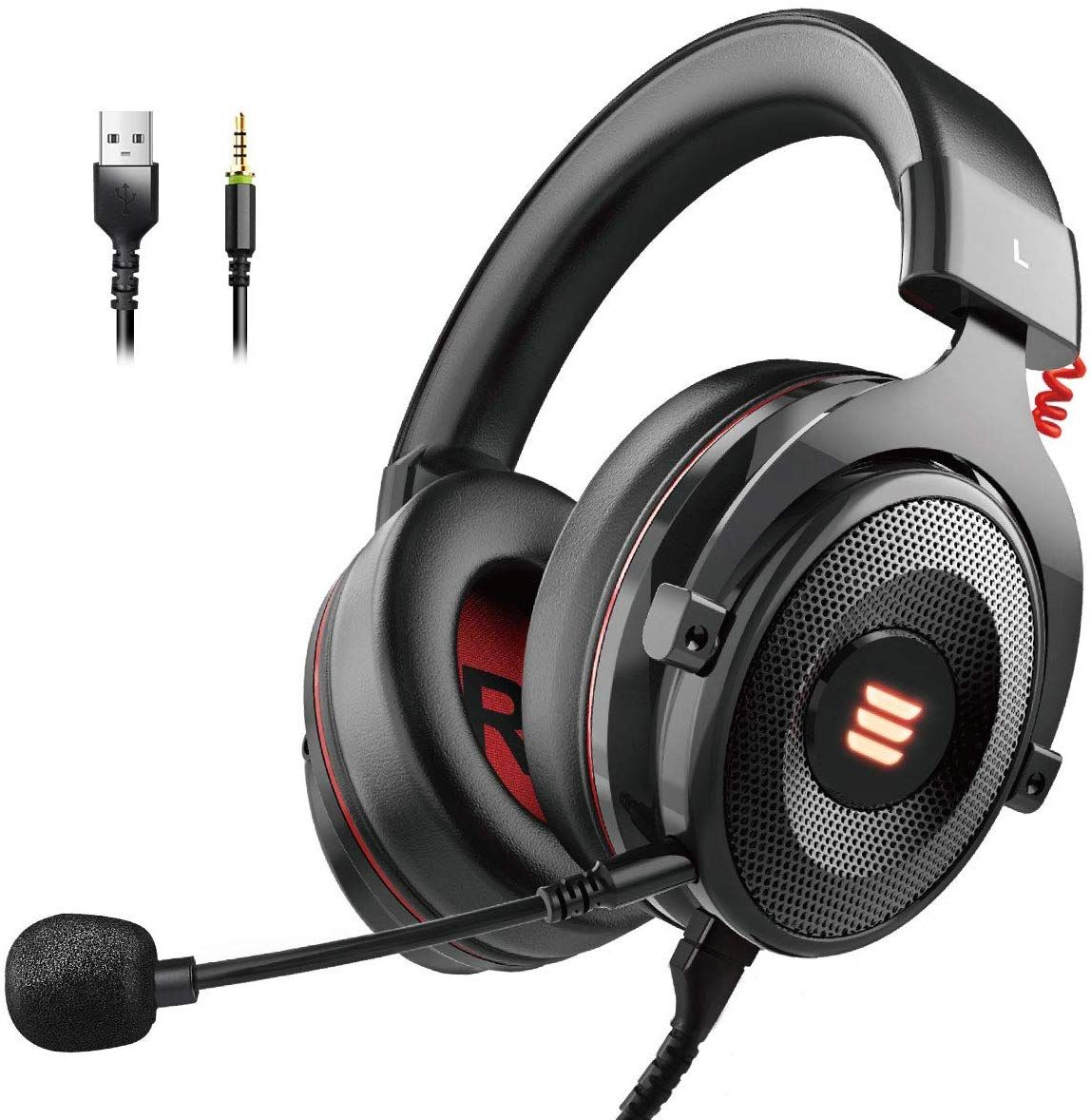 Eksa E900 Gaming Headset Compatible Pc In 2020 Gaming Headset Xbox One Headset Gaming Headphones