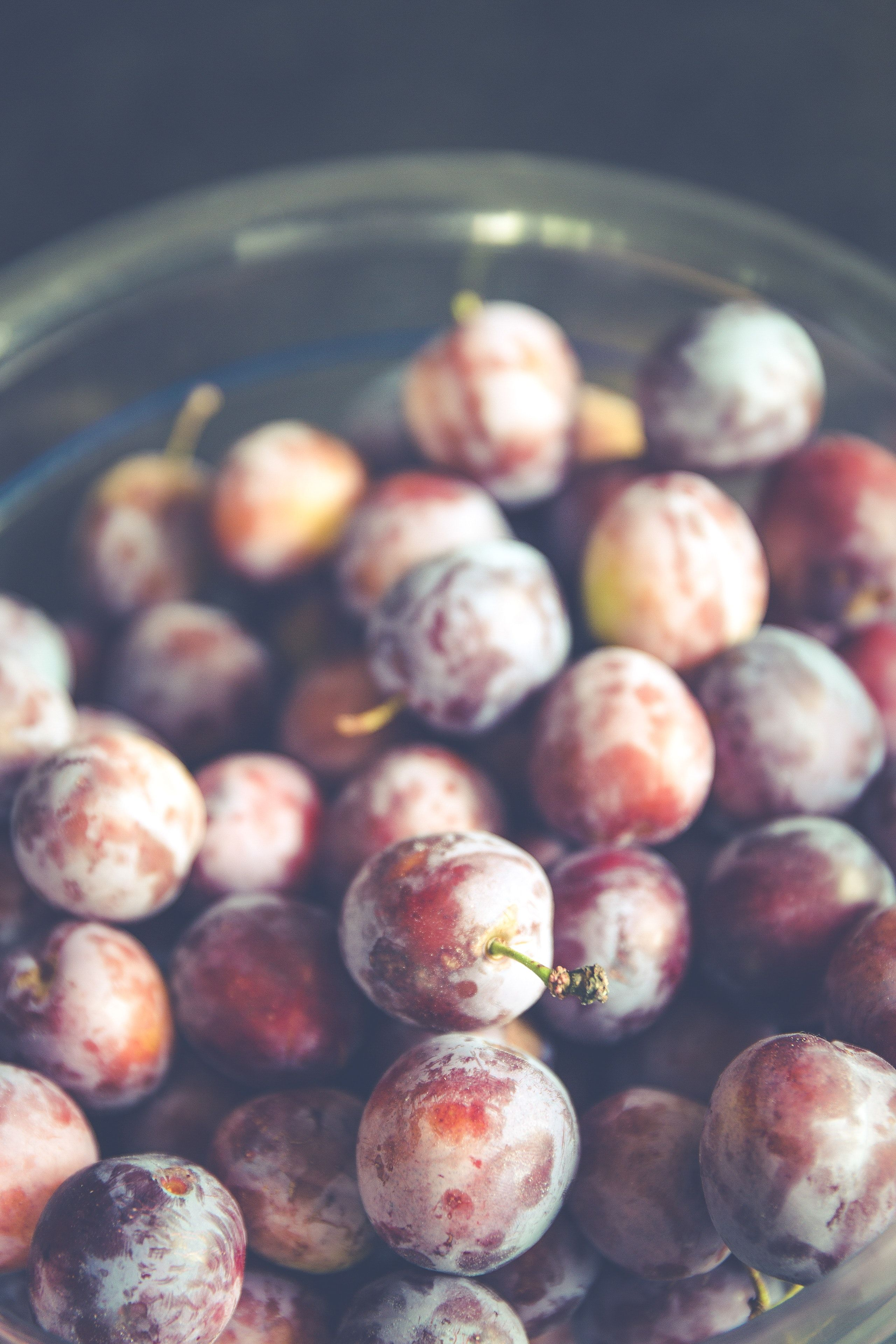 A bunch of picked red grapes free image by