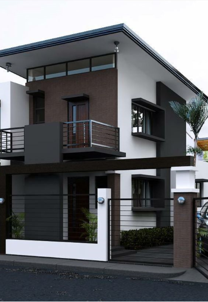 50 Small Two Storey House Designs That Can Be Fitted In Small Lot Area Facade House Minimalist House Design Architecture House