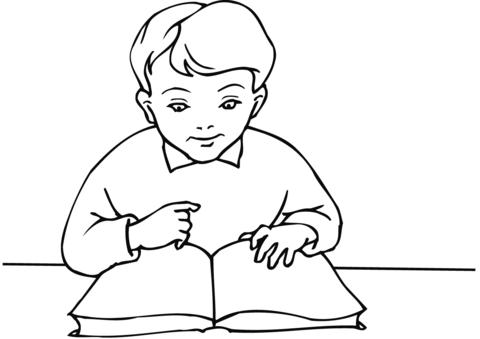 School Boy Reading A Book Coloring Page Coloring Books Coloring Pages For Boys Kids Coloring Books