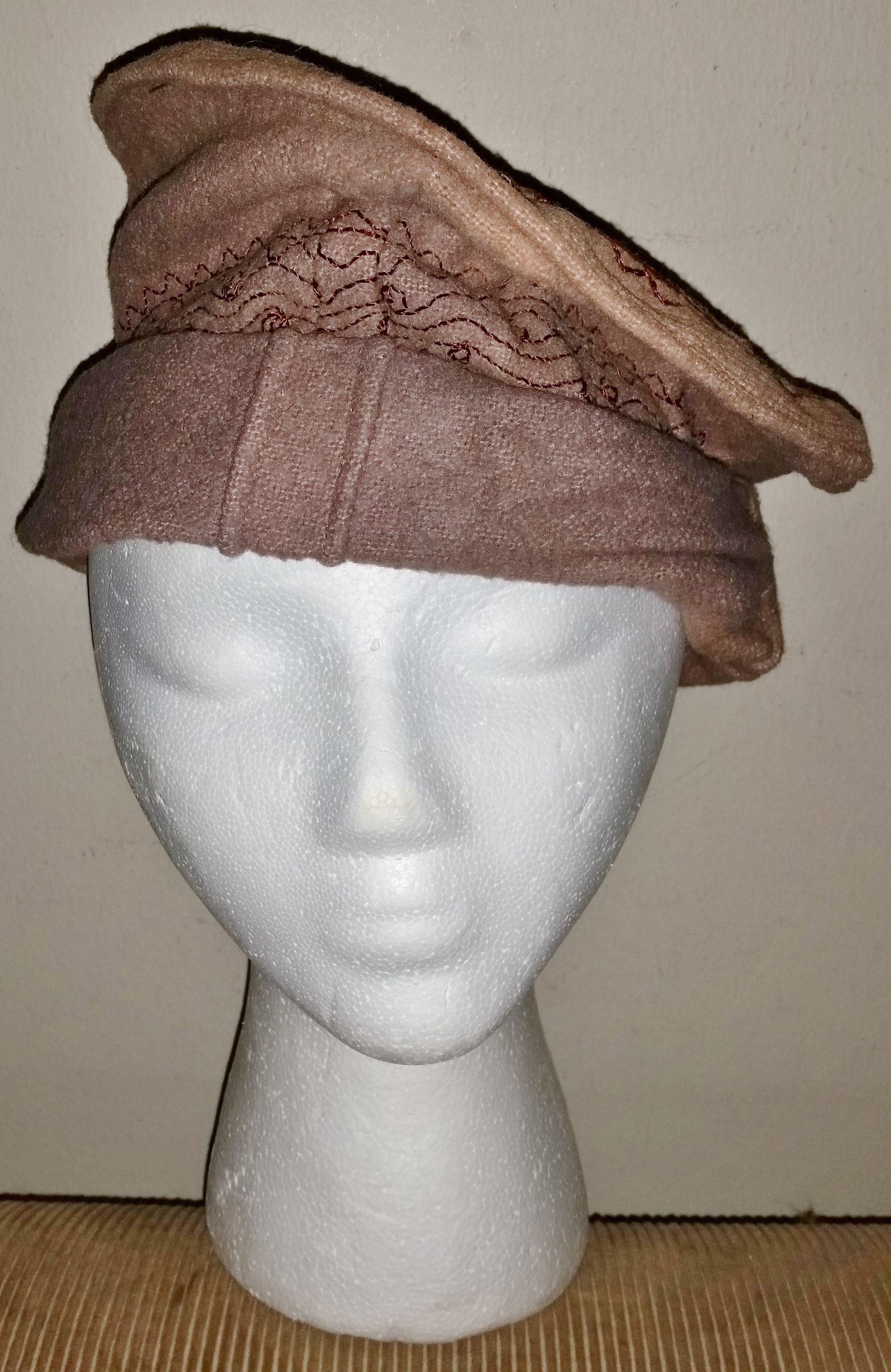 Afghanistan Pakol Hat Wool w  embroidery  b7b550b9c05b