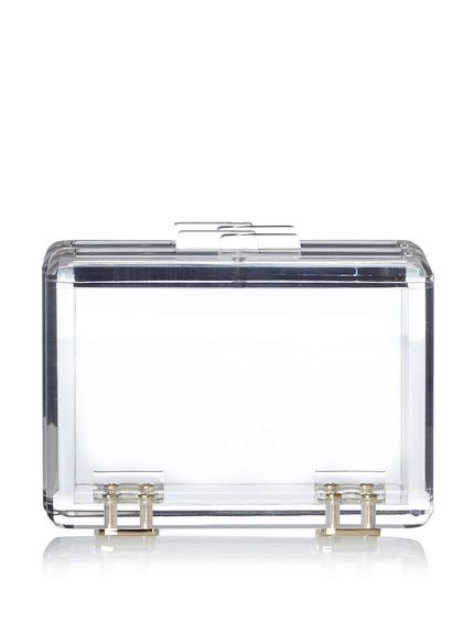 Totally obsessing over this clear lucite clutch.