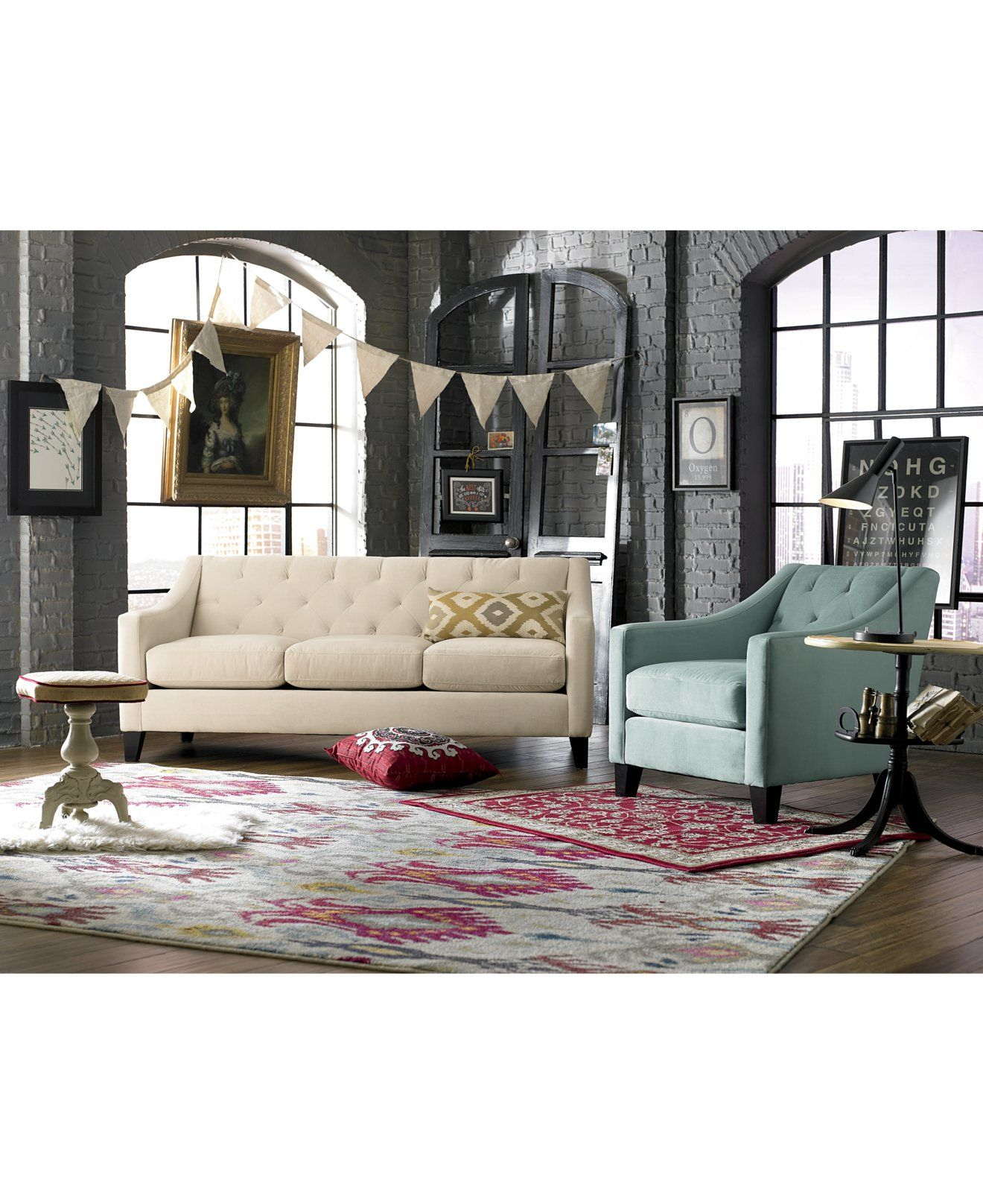 Chloe On Tufted Velvet Sofa Faux Leather Beds With Storage Living Room Furniture Collection