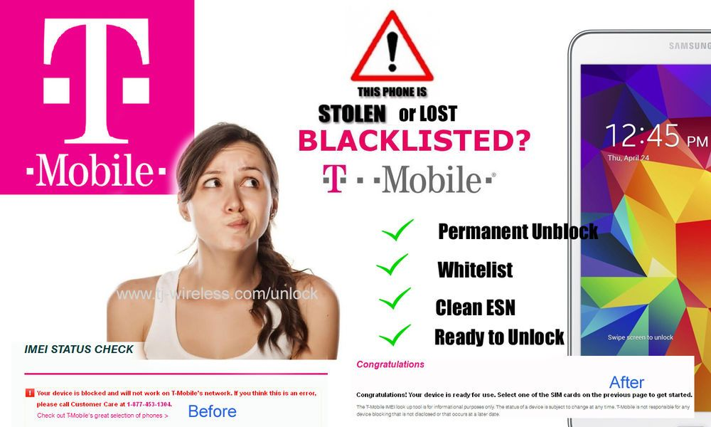 EXPRESS PERMANENT UNBLOCK REPAIR IMEI BLACKLISTED TMOBILE SAMSUNG