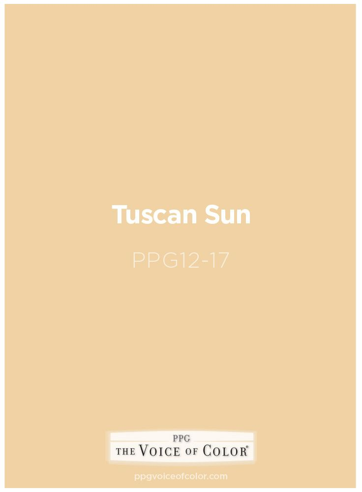 Sunny Yellow Paint Color Tuscan Sun Ppg12 17 By Ppg Voice Of Get