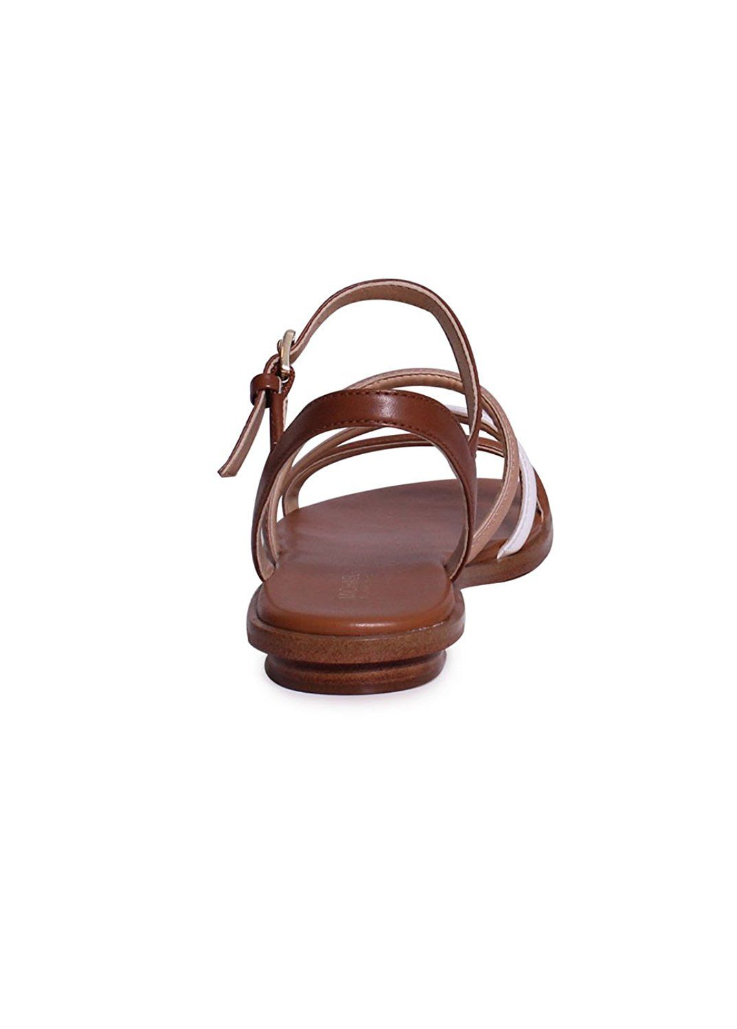 050c259dc2 Michael Kors Nantucket Leather Flat Sandal In Luggage Toffee * For more  information, visit image link. #shoesoftheday