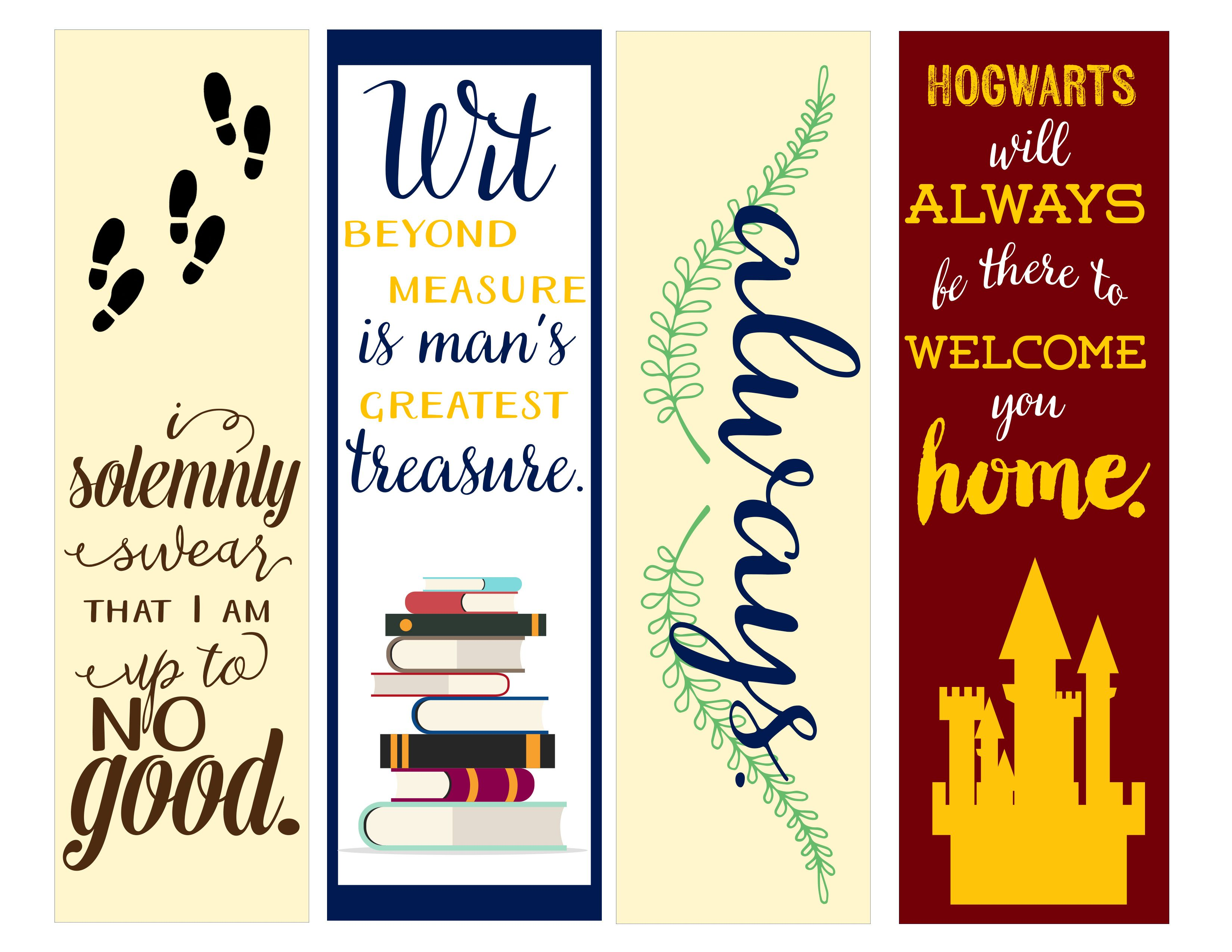 Playful image intended for harry potter bookmark printable