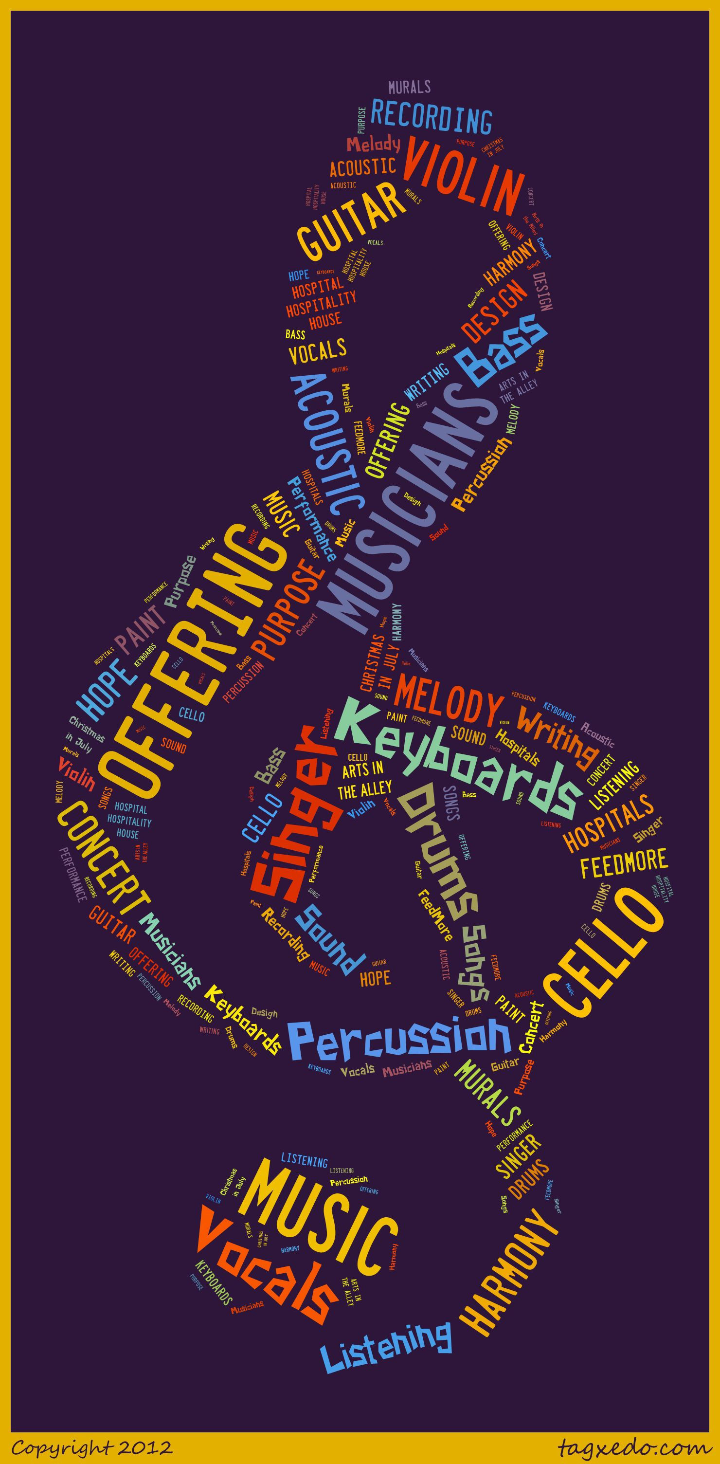 Tagxedo word cloud about offering the music we make tagxedo word cloud about offering publicscrutiny Choice Image