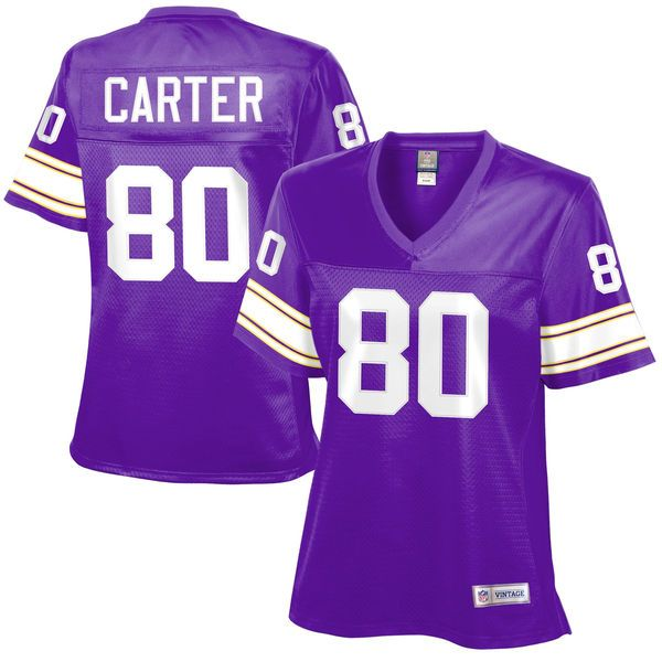 6d6050a5880 Cris Carter Minnesota Vikings Women s Retired Player Jersey - Purple -   109.99