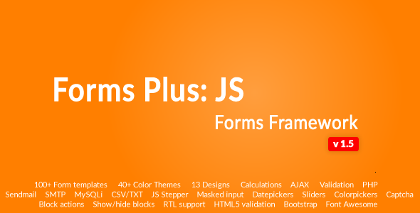 Form Framework with Validation & Calculation - Forms Plus