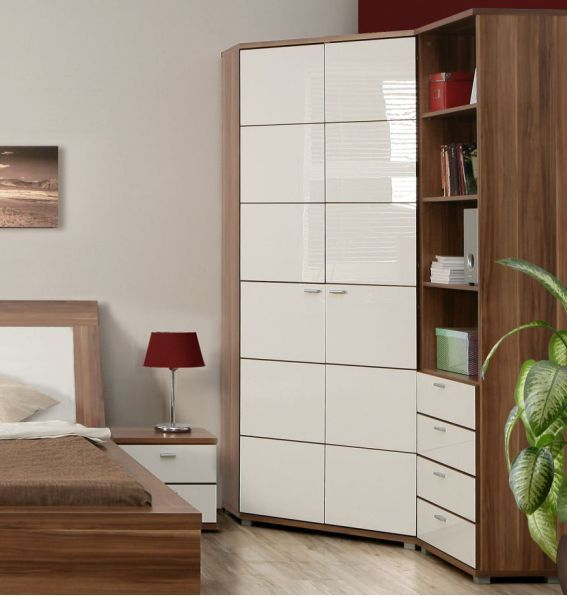 Impressive Corner Wardrobe Design for More Saving Space ...