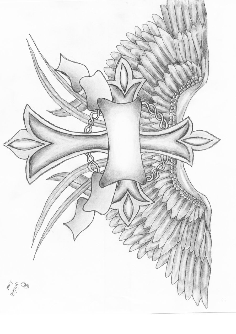 Wing tattoo design - Cross Tattoo Designs With Names Download Cross And Wings By Vikkiarae Designs Interfaces Tattoo Design