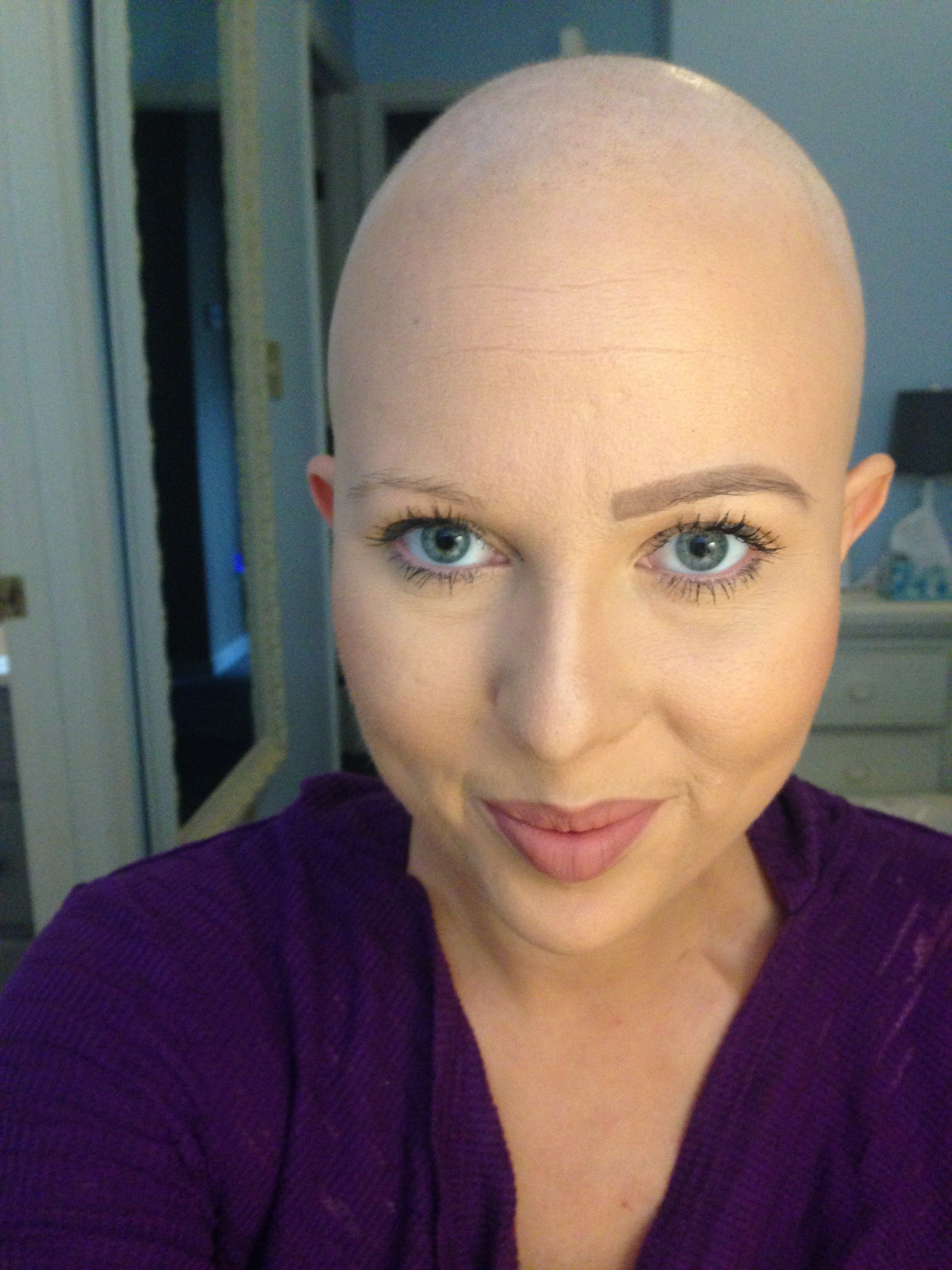 Hair is Overrated Chemo hair loss, Eyebrow makeup