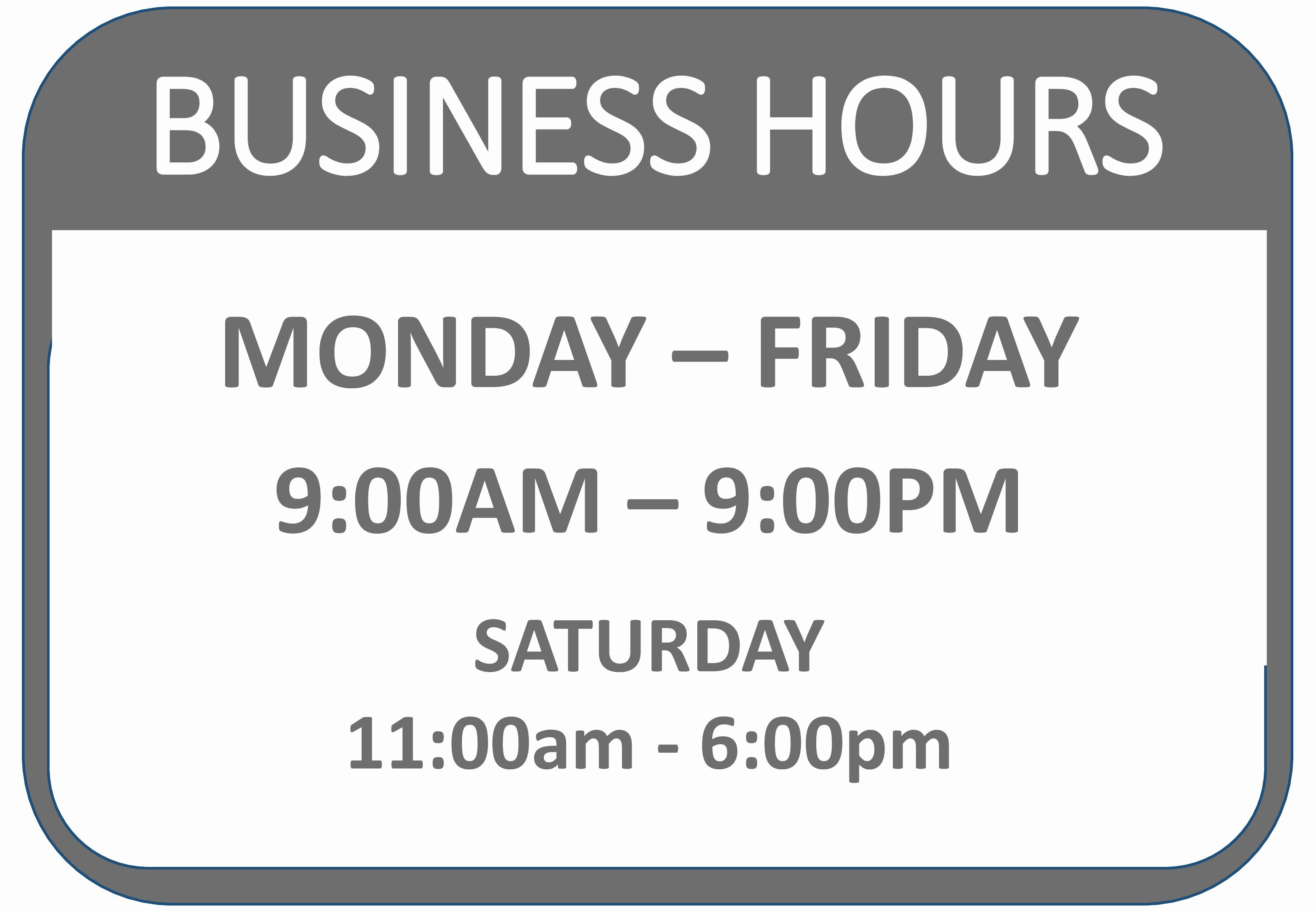 Printable Business Hours Sign Lovely Business Hours Of Operation Template Business Hours Sign Business Hours Sign Template Template Word