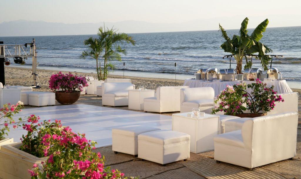 Wedding Reception On The Beach Modern Destination Weddings Grand Velas Riviera Nayarit
