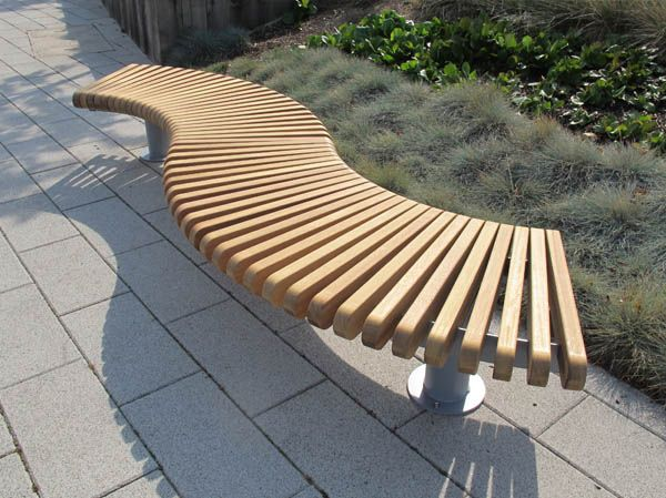 Image Result For Curved Wooden Garden Bench Seating