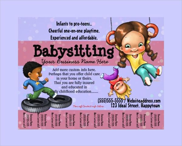 Babysitting Flyer Template That Are Amazingly Cute And Attractive